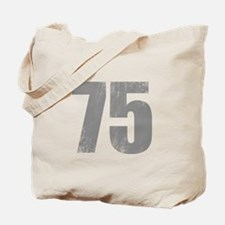 Stonewashed 75th Birthday Tote Bag