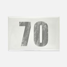 Stonewashed 70th Birthday Rectangle Magnet