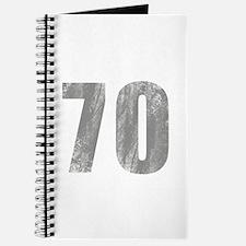 Stonewashed 70th Birthday Journal