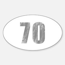 Stonewashed 70th Birthday Decal