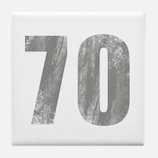 Stonewashed 70th Birthday Tile Coaster