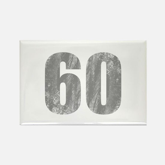 Stonewashed 60th Birthday Rectangle Magnet