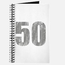 Stonewashed 50th Birthday Journal