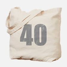 Stonewashed 40th Birthday Tote Bag