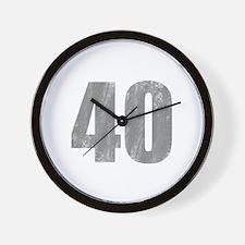 Stonewashed 40th Birthday Wall Clock