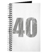 Stonewashed 40th Birthday Journal
