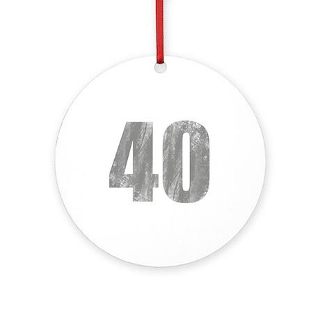 Stonewashed 40th Birthday Ornament (Round)