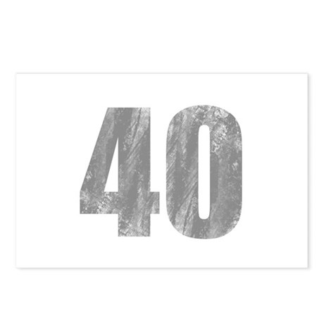 Stonewashed 40th Birthday Postcards (Package of 8)