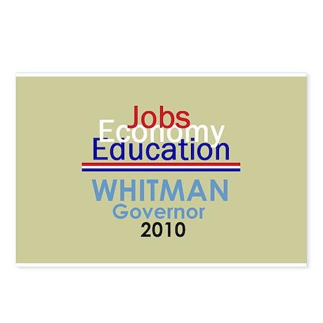 Meg Whitman Governor Californ Postcards (Package o
