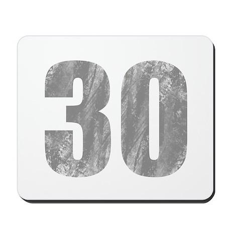 Stonewashed 30th Birthday Mousepad