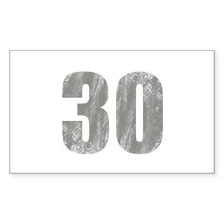 Stonewashed 30th Birthday Sticker (Rectangle)