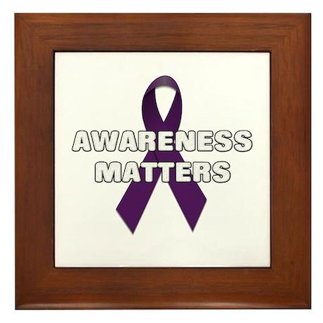 Awareness Matters Framed Tile