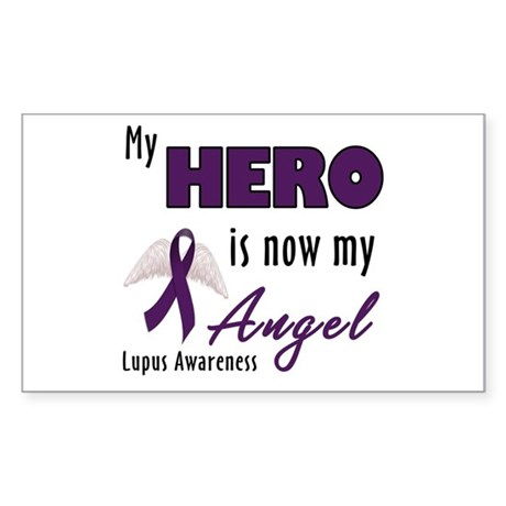 My hero is now my Angel - Lupus Sticker (Rectangle