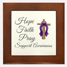 Support Awareness - Lupus Cross Framed Tile