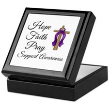 Support Awareness - Lupus Cross Keepsake Box