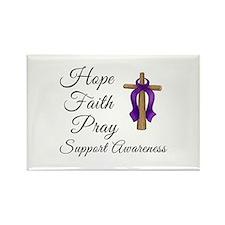 Support Awareness - Lupus Cross Rectangle Magnet