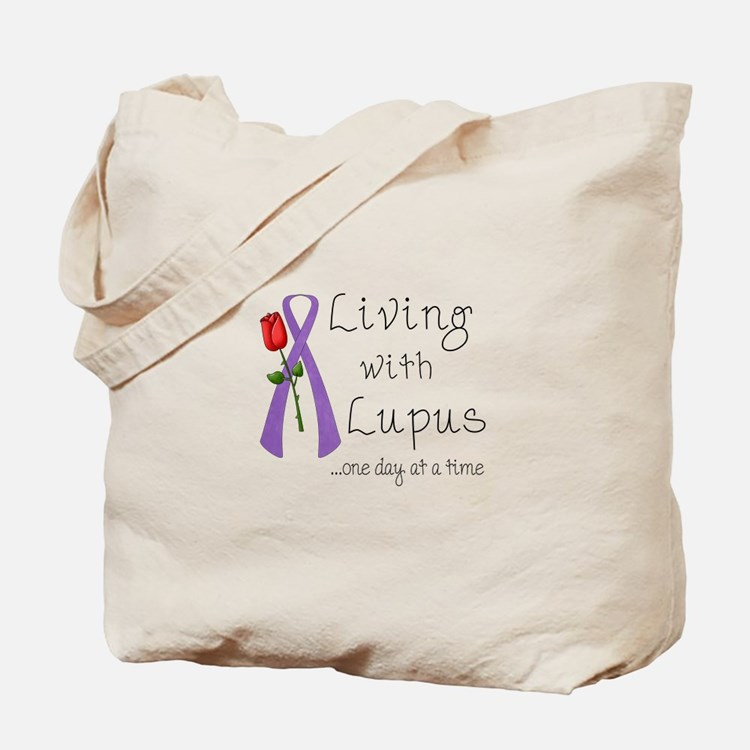 Living with Lupus One Day at a Time Tote Bag