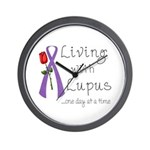 Living with Lupus One Day at a Time Wall Clock