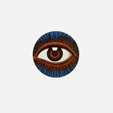 All Seeing Eye Mini Button