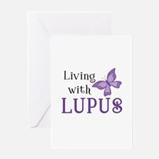 Living With Lupus Greeting Card