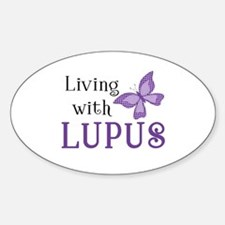Living With Lupus Sticker (Oval)