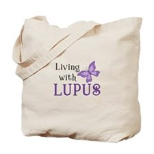 Living With Lupus Tote Bag