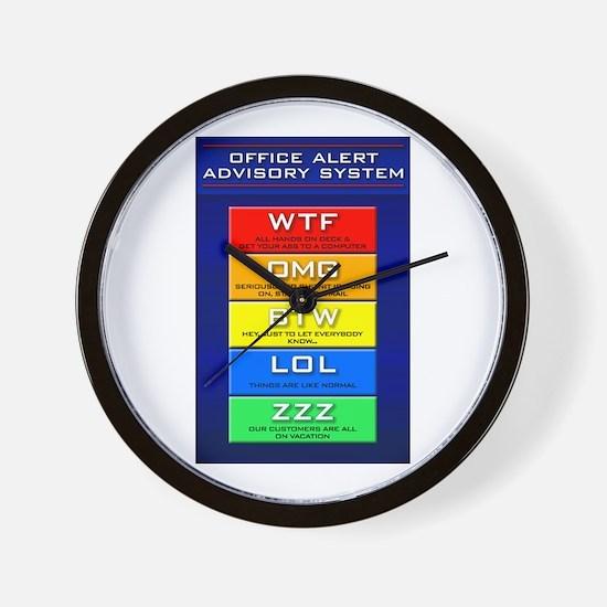 Office Alert (Emoticon) Wall Clock