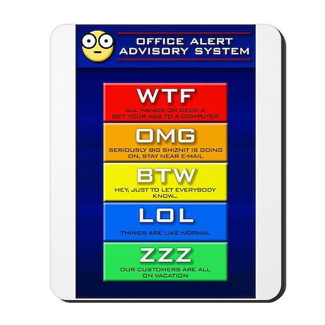Office Alert (Emoticon) Mousepad