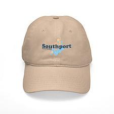 Southport NC - Seashells Design Baseball Cap