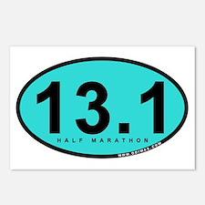 Half Marathon 13.1 Miles Postcards (Package of 8)