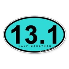 Half Marathon 13.1 Miles Decal