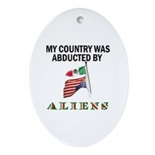 TAKE BACK YOUR COUNTRY Ornament (Oval)