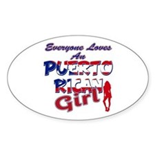 Puerto rican girl Decal