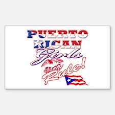 Puerto rican girl Decal