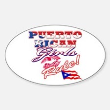 Puerto rican girl Sticker (Oval)