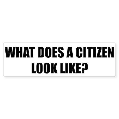 Citizen Bumper Sticker White