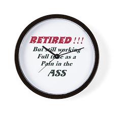 Ass Pain ret Wall Clock