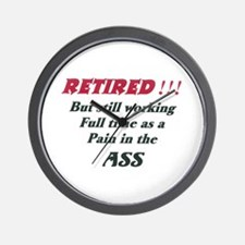 Ass Pain ret Wall Clock