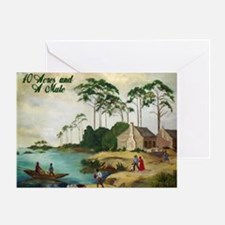 40 Acres and a Mule Greeting Card