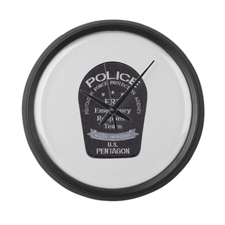 Pentagon Police ERT Large Wall Clock
