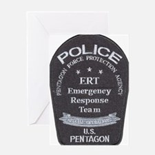 Pentagon Police ERT Greeting Card