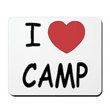 I heart camp Mousepad