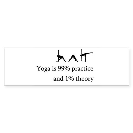 Yoga Practice Sticker (Bumper)