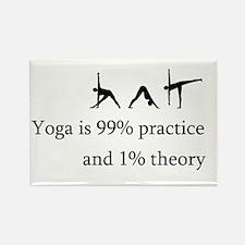 Yoga Practice Rectangle Magnet