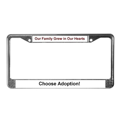 Adoption Gifts License Plate Frame