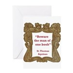 Man of One Book Greeting Card
