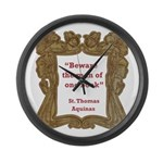 Man of One Book Large Wall Clock
