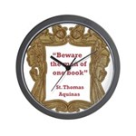 Man of One Book Wall Clock