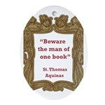 Man of One Book Ornament (Oval)