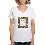 Man of One Book Women's V-Neck T-Shirt